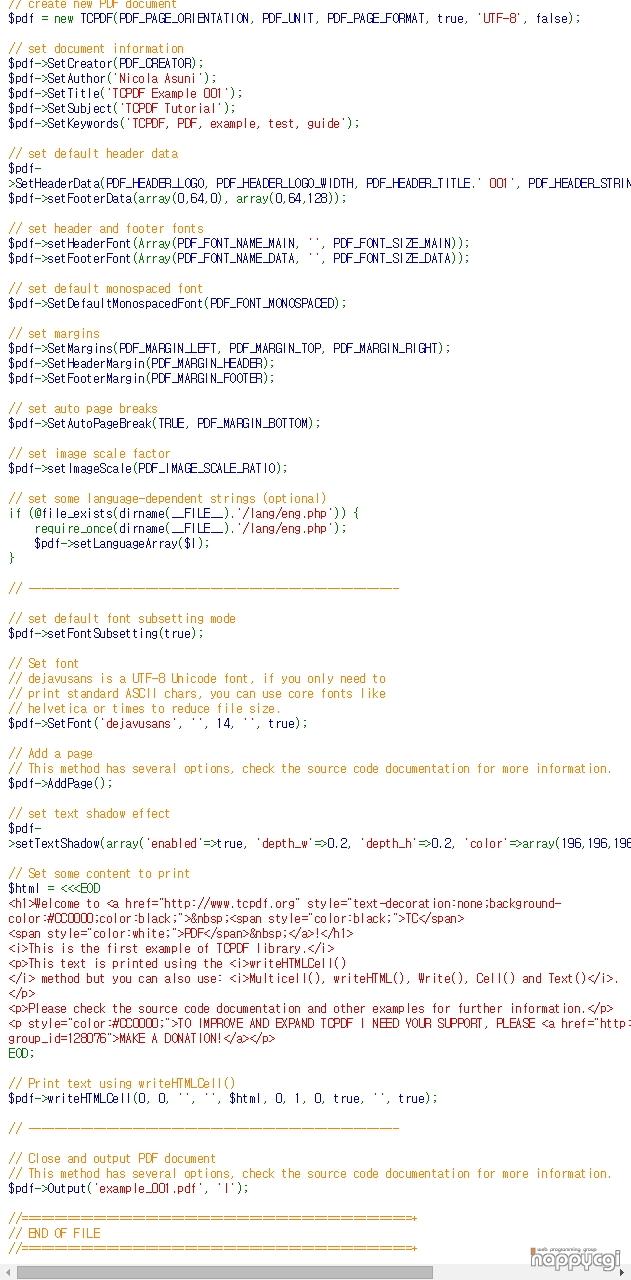 TCPDF - PHP class for PDF Ver6 2 12 happycgi